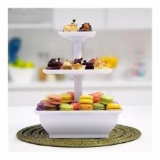 Snack Server Rak Kue 3 Tingkat Alas Kue Tempat Roti Dan Kue Alat Penyajian