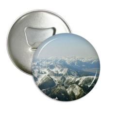 Salju Musim Dingin Mountains Forest Luar Ruangan Langit Sepanjang Pembuka Botol Magnet Kulkas Pins Lencana Tombol Hadiah 3 Pcs-Internasional