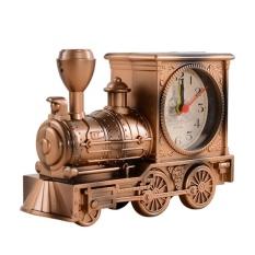 SOBUY Antik Kreatif Jam Alarm Lokomotif Kereta Kartun Dekoratif Hadiah Terbaik untuk Siswa-Internasional