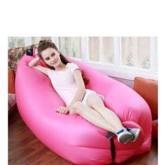 Sofa Angin Kasur Angin Sofa Malas Lazy Air Inflatable Bed Pink
