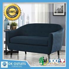 Sofa Biru Tua 2 Seat