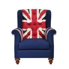 Sofa England Union Jack - Mahoni Wood - Special Jabodetabek