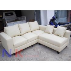 Sofa kursi Tamu L Minimalis, sofa sudut kantor + Meja - JABODETABEK ONLY.