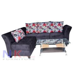 Sofa kursi Tamu L minimalis, sofa sudut mewah + Meja - JABODETABEK ONLY