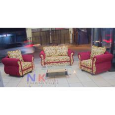 Sofa  Kursi Tamu Minimalis 211, kursi tamu klasik red + Meja - JABODETABEK ONLY