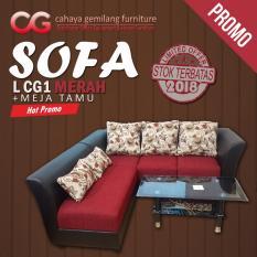 Sofa Merah Murah Meriah Bagus Modern - CG - SOFA LCG1 RED - 002