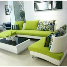 sofa minimalis terbaru warna hijau