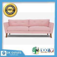 Sofa Modern Kayu Jati Pinky 2 Seat, Sofa Jepara