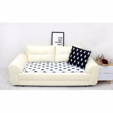 Bantalan Sofa Gaya Modern 55X160 Cm-Kursi Sofa Pad Mat-Gaya Kayu (Putih