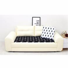 Bantalan Sofa Gaya Modern 55X230 Cm-Kursi Sofa Pad Mat-Gaya Kayu (Hitam