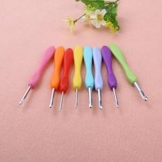 Soft Handle 8 Pcs Colorful Aluminium Crochet Hooks Knitting Needls Set-Intl By Companionship.