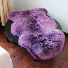 Wol Lembut Seat Pad Cover Karpet Plain Sheepskin Plain Karpet Kamar Tidur 75*106 CM