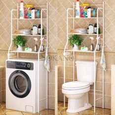 SOKANO MTJ01 3 Tiers Bathroom and Toilet Organizer Shelves- White  - intl