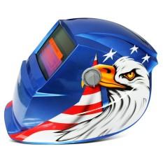 Tenaga Surya Energi Otomatis Berubah Cahaya Listrik Pengelasan Helm Pelindung dengan Eagle Pola-Internasional