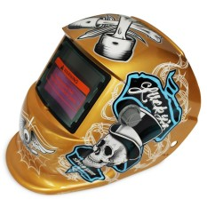 Tenaga Surya Energi Otomatis Berubah Cahaya Listrik Pengelasan Helm Pelindung dengan Pirate Pola-Internasional