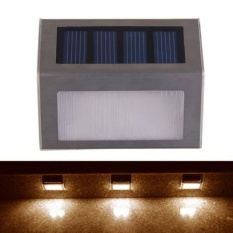 Tenaga Surya 2 LED Outdoor Waterproof Garden Pathway Tangga Lampu Hemat Energi Solar Wall Light-Intl