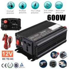 Solar Power Inverter1000W Peak 12V DC To 110V AC Modified Sine Wave Converter Black - intl