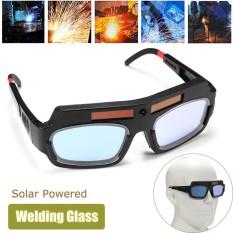 Solar Powered Auto Penggelapan Welding Masker Helm Mata Goggle Kacamata Las Arc Hitam-Intl