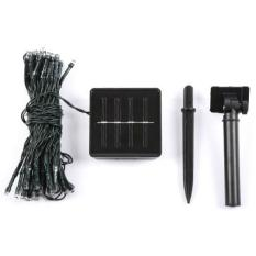 Spesifikasi Solar Powered Garden Decoration Light 100 Led 12 Meter Lampu Hias Taman Black Yang Bagus Dan Murah