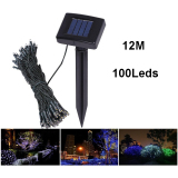 Toko Solar Powered Garden Decoration Light 100 Led 12 Meter Lampu Hias Taman Mk01 Black Terlengkap Jawa Tengah