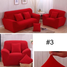 Solid Stretch Sectional Sofa Soft Slipcovers Sofa Elastis Penutup untuk SingleSeats-Intl