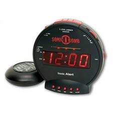 Sonic Alert Sbb500Ss Sonic Bomb Loud Dual Alarm Clock With Bed Shaker Intl Terbaru