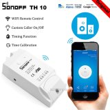 Jual Sonoff Th10 Temperature And Humidity Monitoring Wifi Smart Switch For Diy Smart Home Max Current 10A Intl Original
