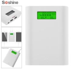 Toko Soshine E3S 18650 Sumber Daya Portabel Bank Dengan Dual Usb Smart Charger Dengan Display Lcd Untuk 18650 Baterai Intl Oem Di Tiongkok