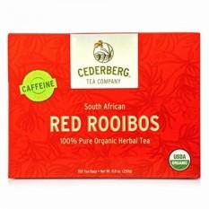 Afrika Selatan USDA Organic Merah Rooibos Teh Herbal 100 Count-Naturally Caffeine Bebas Cederberg Tea Company-Internasional