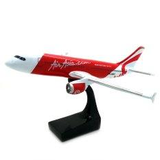 Souvenir Jogja Miniatur Pesawat Terbang Air Asia 20x17x12cm Fiber Glass - Putih