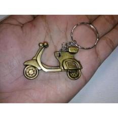 Souvenir Pernikahan Gantungan Kunci Vespa Gold Kemas Plastik Isi 100 Pcs