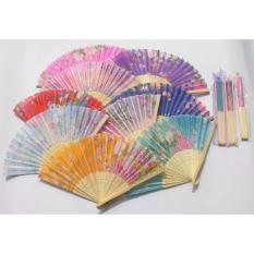 Harga Souvenir Pernikahan Kipas Jepang Warna Kemas Plastik Isi 100 Pcs Lengkap