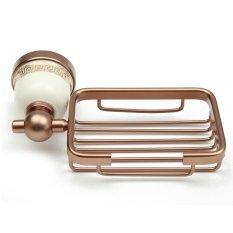 Spesifikasi Ruang Aluminium Bathroom Wall Mounted Shower Kotak Sabun Dish Holder Keranjang Penyimpanan Rose Gold Intl Murah Berkualitas