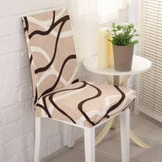 Spandex Stretch Dining Chair Cover Washable Restaurant Weddings Banquet Folding Hotel Chair Cover Bird Nest - intl