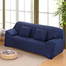 Spandex Stretch Sofa Cover Elasticity Polyester Solid Colors Couch Cover Loveseat Sofa Furniture Cover - intl