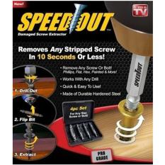 Jual Speedout Scr*w Extractor Removes Any Stripped Scr*w Set Of 4 Damaged Scr*w Remover Intl Oem Online