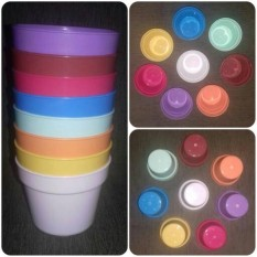 SPESIAL 1 Lusin Pot Plastik Aneka Warna Dia.8 Cm- Untuk Tanaman Dan