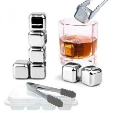 Reusable Stainless Steel Ice Cube 4Pcs / Es Batu Stainless. Source · Rp 770.000.