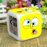 Harga Spongebob Jam Alarm Digital Klokken Elektronik Jam Meja Wake Up Lampu Plastik Dipimpin 7 Warna Intl Online