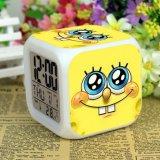 Harga Spongebob Jam Alarm Digital Klokken Elektronik Jam Meja Wake Up Lampu Plastik Dipimpin 7 Warna Intl