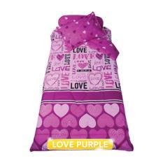 Beli Sprai My Love Motif Love Purple Single 100 X 200 X 22 5 Indonesia