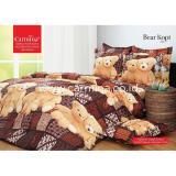 Harga Sprei Batik Carmina Bear Kopi Ukuran 160X200 Universal Baru