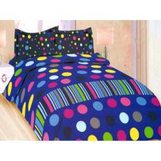 SPREI BONITA EVERBEST No.1 KING 180 SEPRAI POLKA DOT GARIS WARNA WARNI