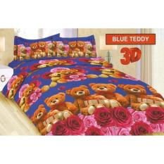 Promo Sprei Bonita King 180 Motif Blue Teddy Multi