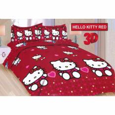 Miliki Segera Sprei Bonita King 180 X 200 Hello Kitty Red