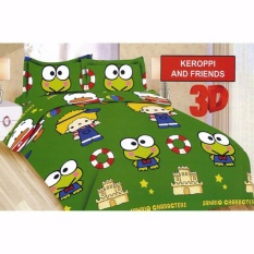 Ulasan Lengkap Sprei Bonita No 3 120 X 200 Single Size Motif Keroppi Friends