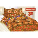 Sprei Bonita Single Uk 120X200 Motif Bear House Multi Murah Di Indonesia
