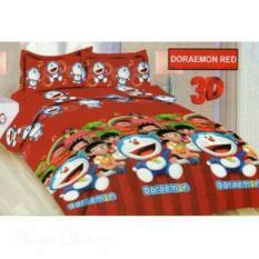 Sprei Bonita  Uk. 180 x 200 - Doraemon Red No. 1