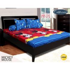 Harga Hemat Sprei California Single Uk 120X200 Motif Mickey Mouse