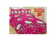 SPREI FATA 180X200 HELLO KITTY PINK BATIK